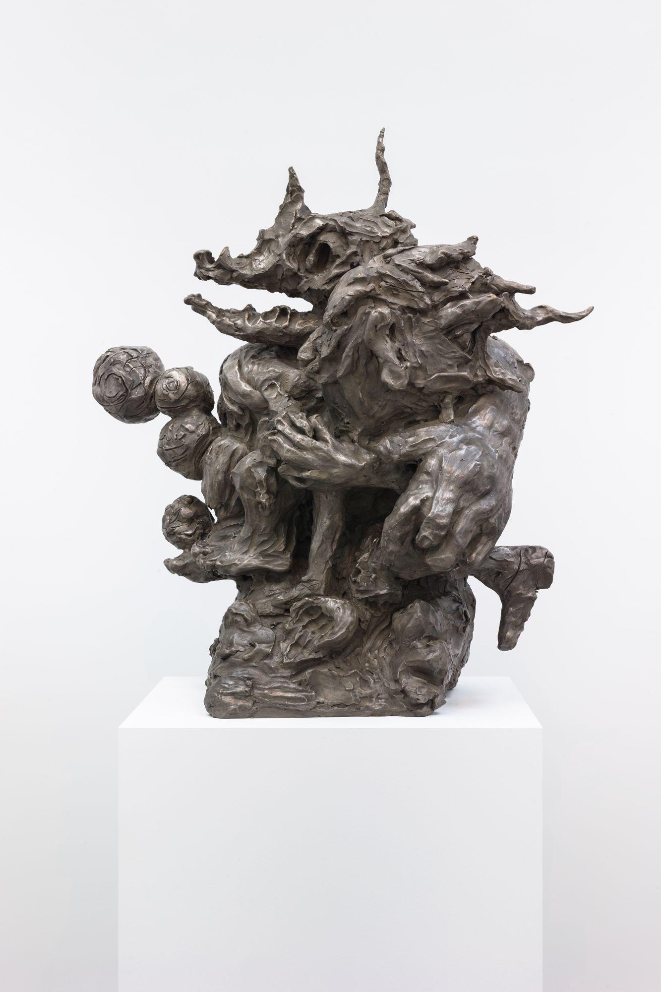 Dana Schutz , Washing Monsters,  2018 ,  Bronze ,  Petzel Gallery.