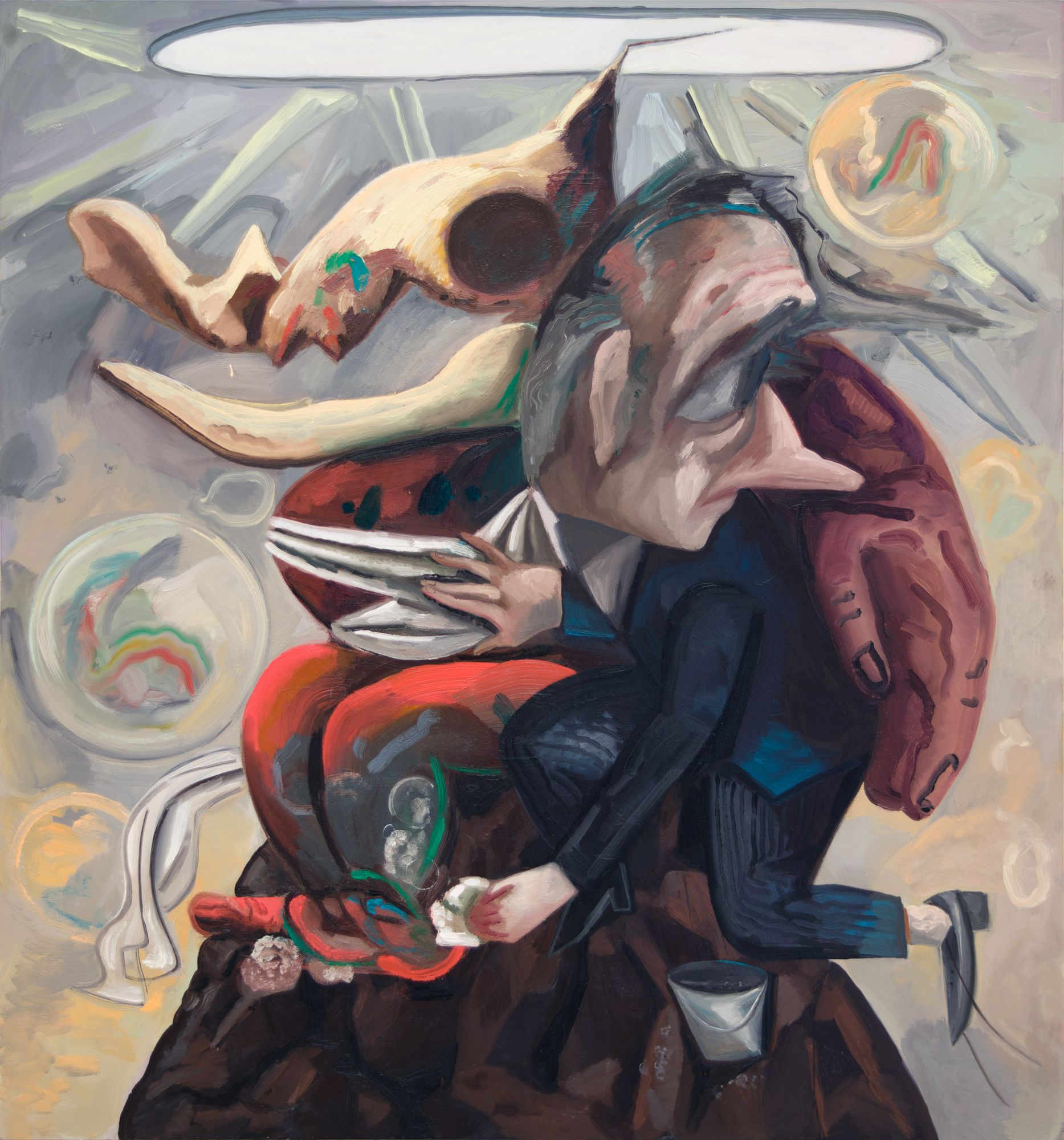 Dana Schutz , Washing Monsters,  2018 ,  Oil on canvas ,  Petzel Gallery.