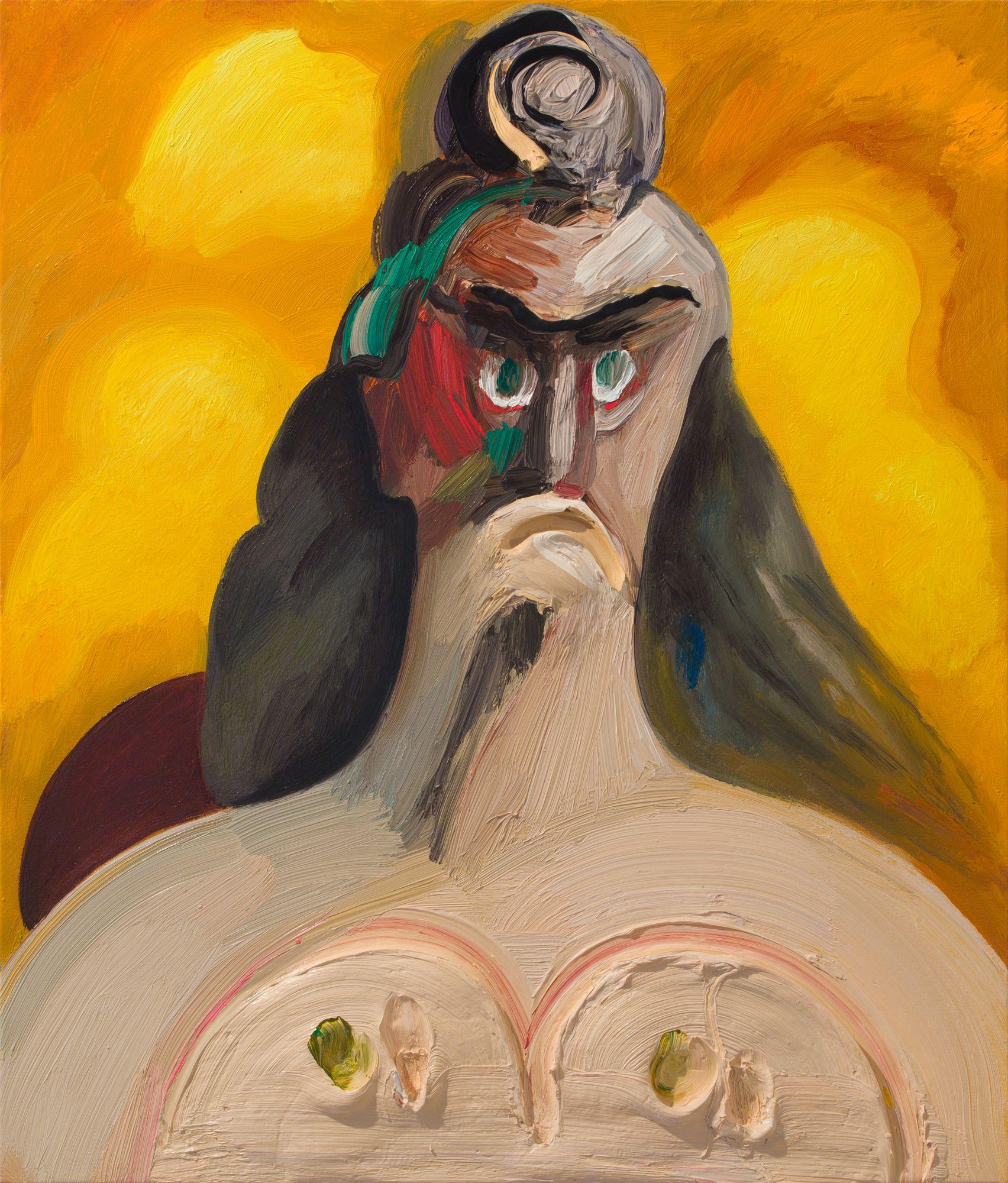 Dana Schutz , Touched,  2018 ,  Oil on canvas ,  Petzel Gallery.