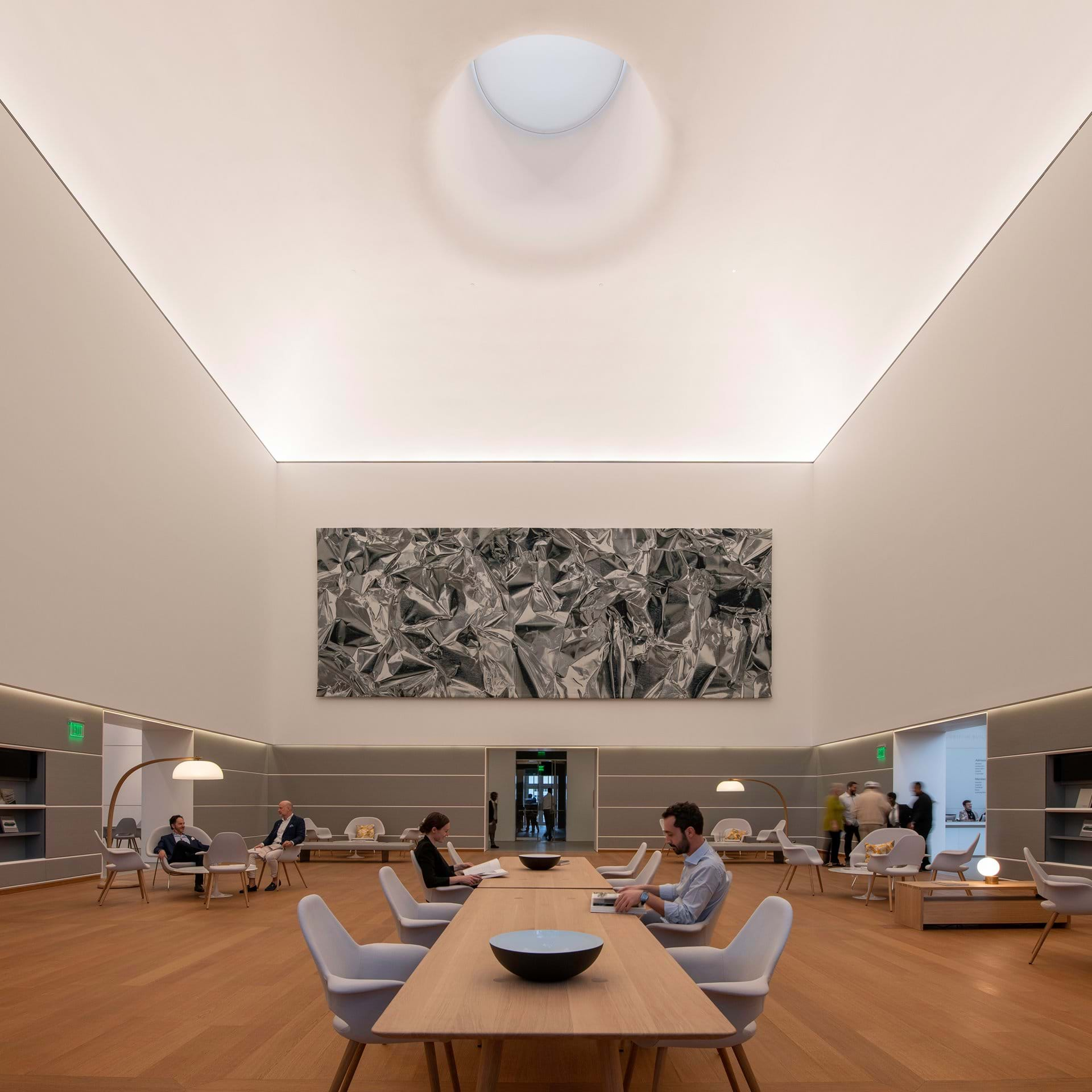 The Norton Museum of Art's Great Hall. Photo: Foster + Partners.