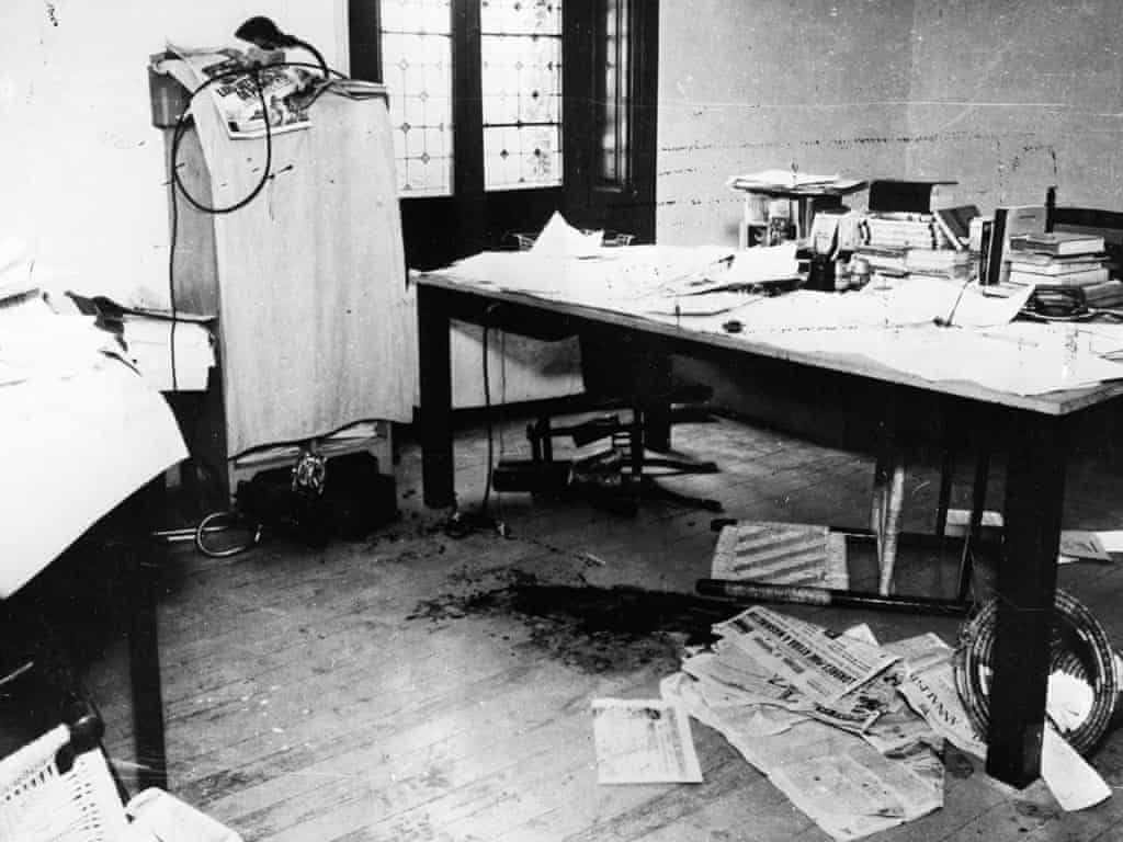 The murder scene where Ramón Mercader assassinated Leon Trotsky. Photo: Hulton-Deutsch Collection / Corbis.