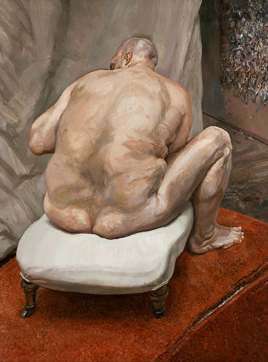 Lucian Freud , Naked Man, Back View,  1991–92 ,  Oil on canvas ,  The Metropolitan Museum of Art ,  New York. Photo: © The Lucian Freud Archive / Bridgeman Images.