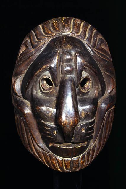 Lion-type mask by an unknown Kwakwaka'wakw (1820) PHOTO: ©TRUSTEES OF THE BRITISH MUSEUM