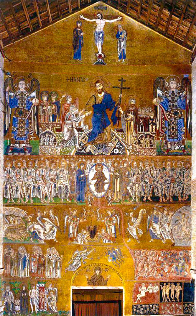 The Last Judgment ,  ca.  twelfth century, Gold and glass mosaic.