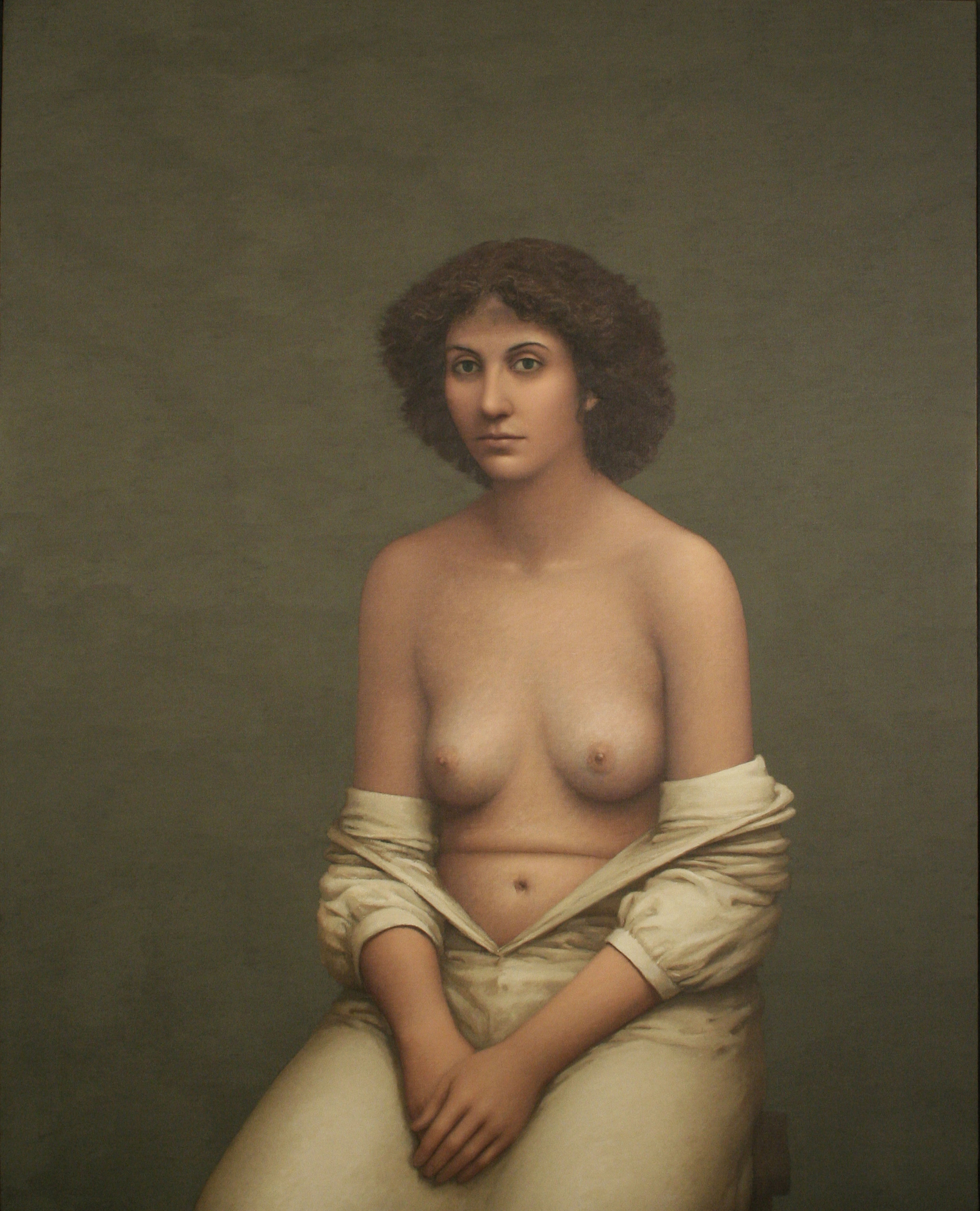 William Bailey,  Portrait of S , 1979–80, Oil on canvas, Yale University Art Gallery.
