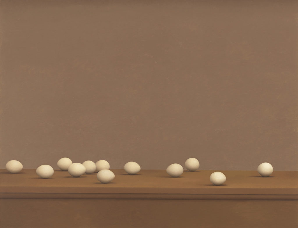 William Bailey,  Eggs , 1974, Oil on canvas, Yale University Art Gallery.
