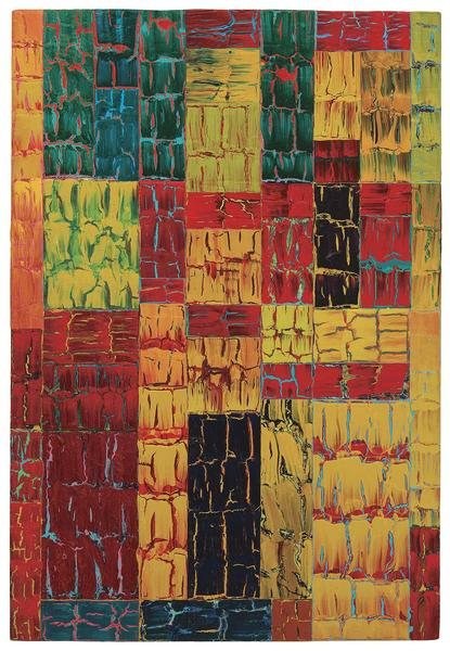 William T. Williams,  Blues Labyrinth , 1991, Acrylic on canvas, Michael Rosenfeld Gallery.