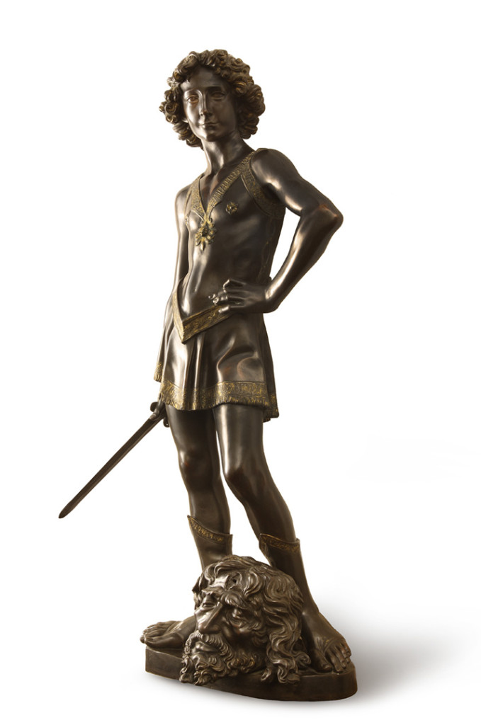 Andrea del Verrocchio, David with he Head of Goliath, c. 1465