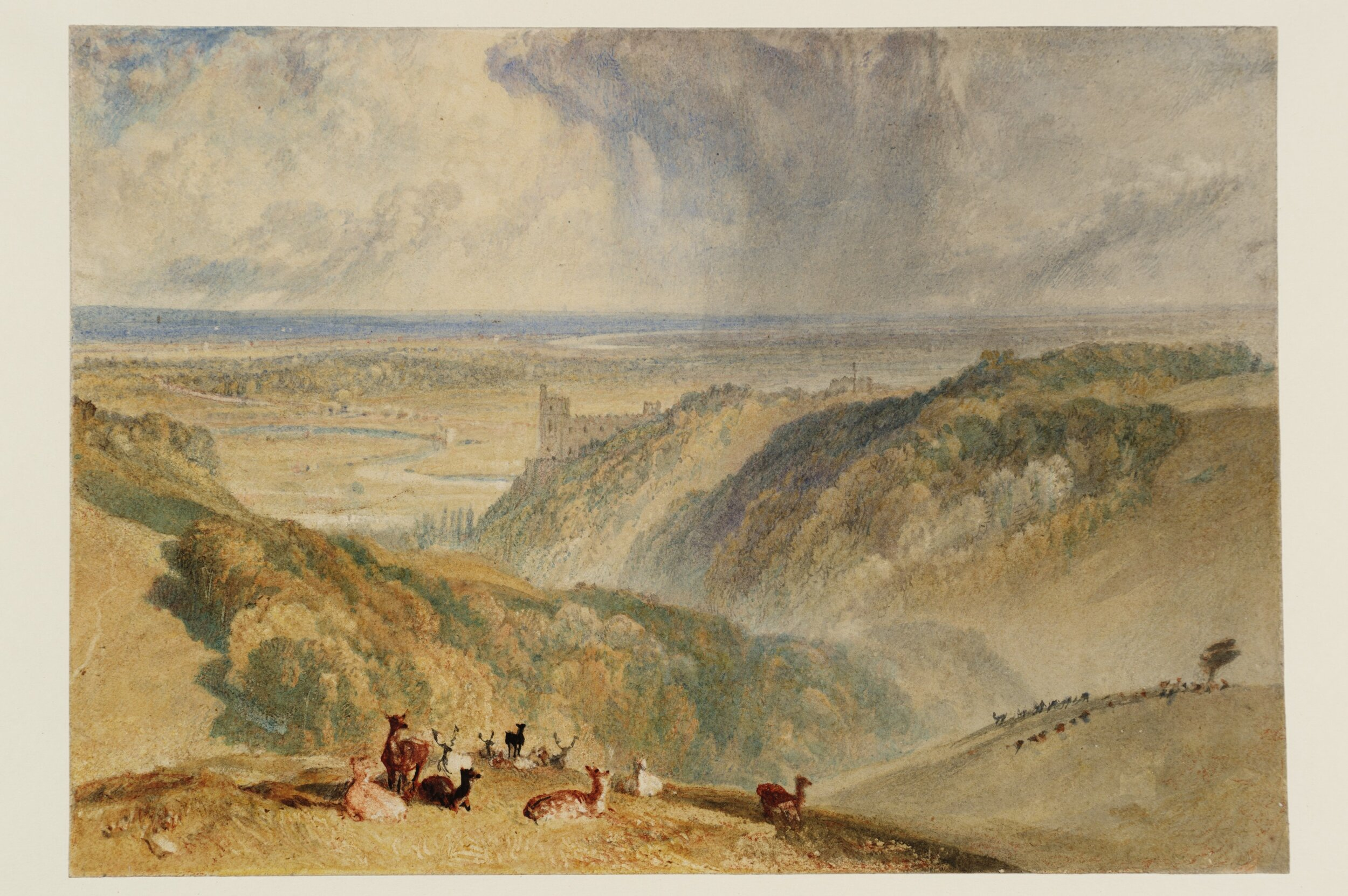 J. M. W. Turner,  Arundel Castle, on the River Arun ,  ca . 1824, Watercolor on paper, Tate.