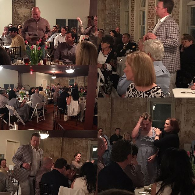 """Haunted"" Mystery Dinner Theatre @crowleyopera last night was a blast.  Thanks to Lynn and Mark Cullen for sponsoring this SOLD OUT fundraiser!"