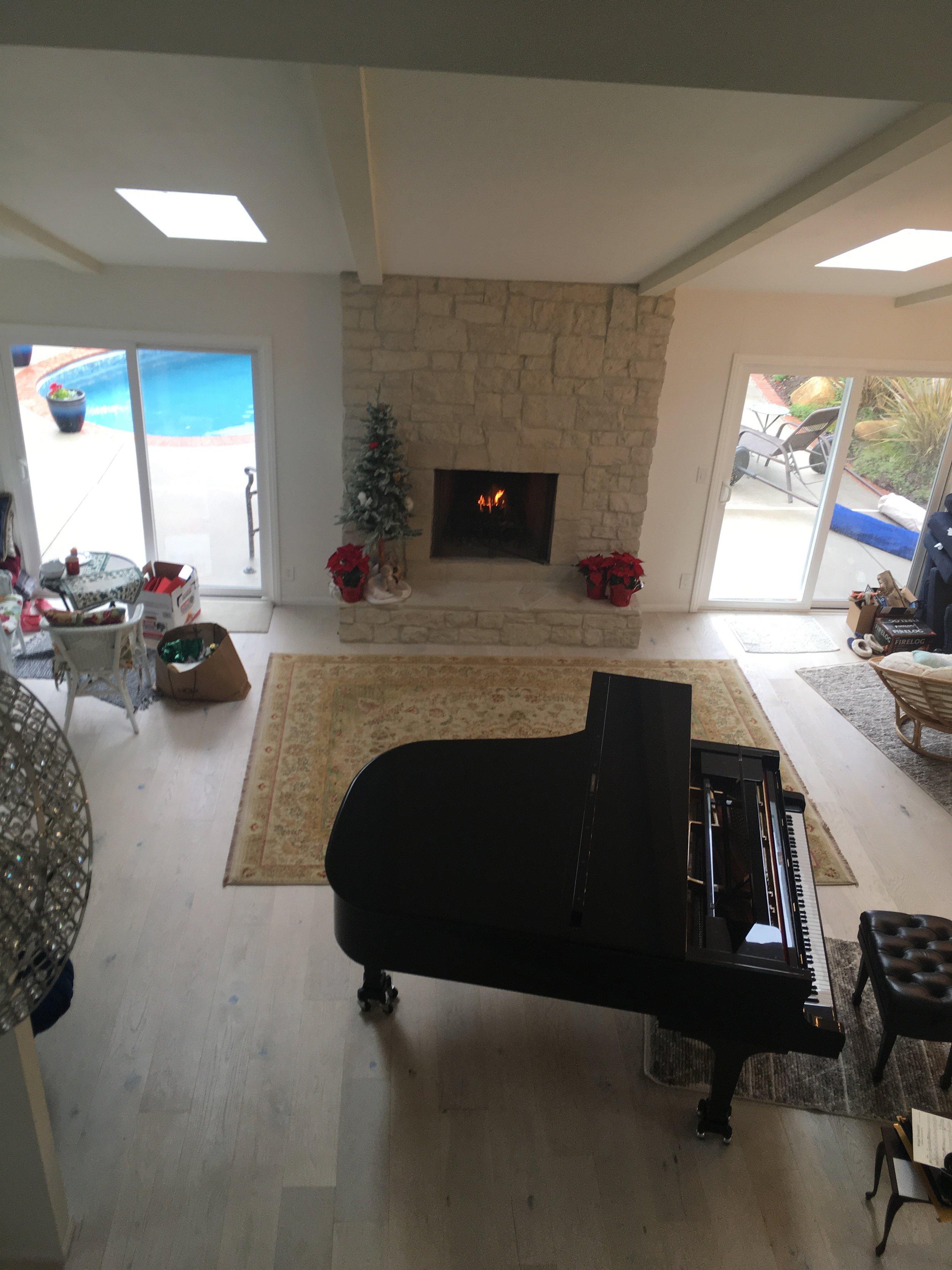 My piano at Bluebird Park Studio