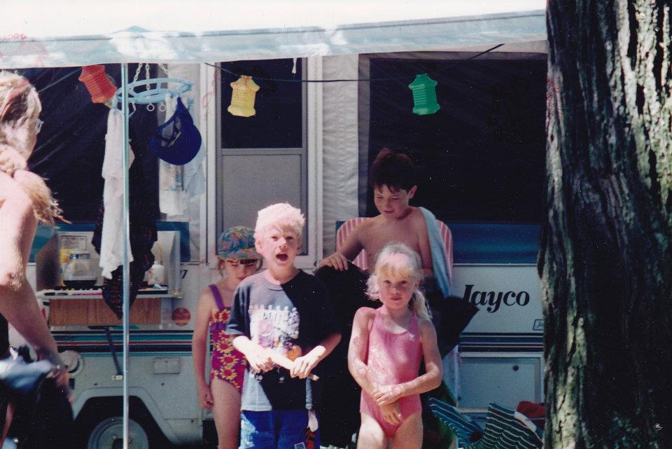 Me and my brother Stefan and two randos at Oak-A-Lea campground circa 1996.
