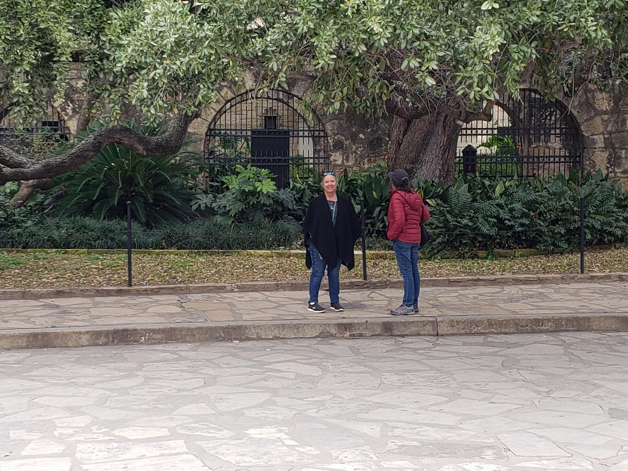 Across the street from The Alamo