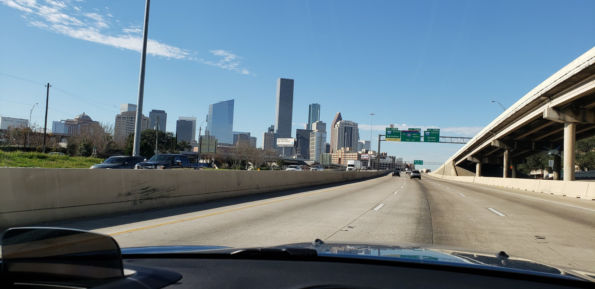 Coming into San Antonio