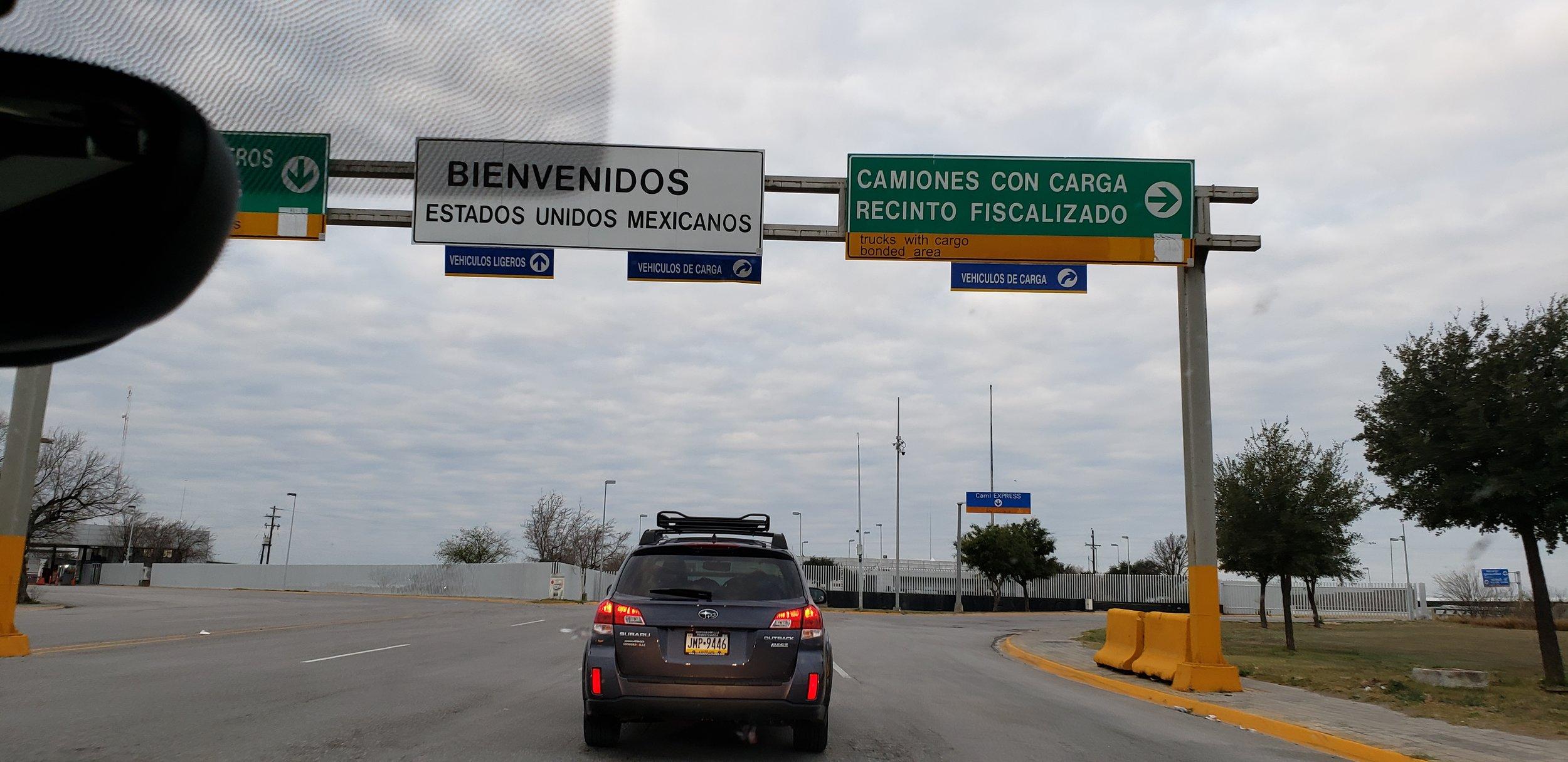 Following Bob and Caroline at the border