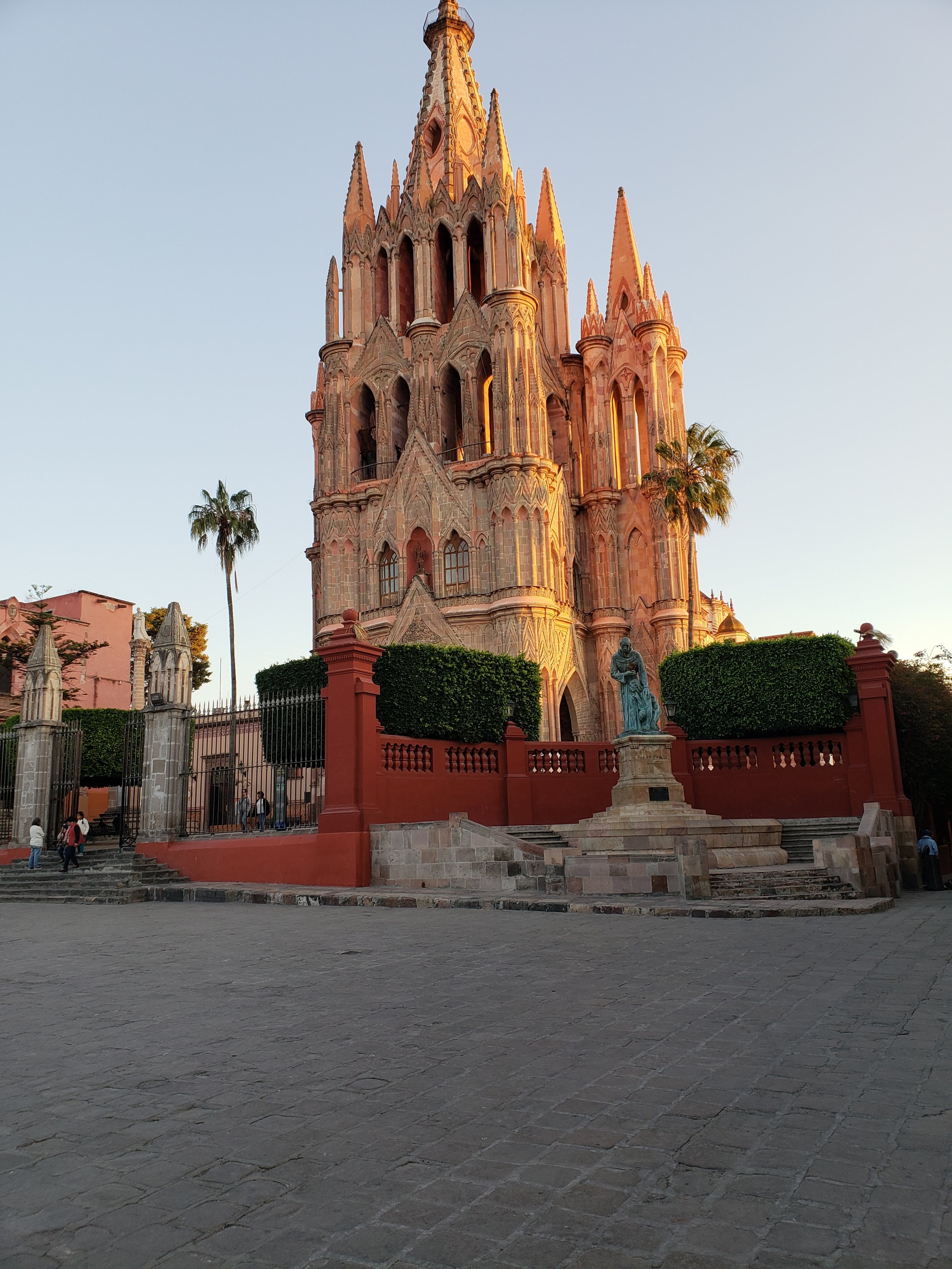 Church in main square of San Miguel de Allende