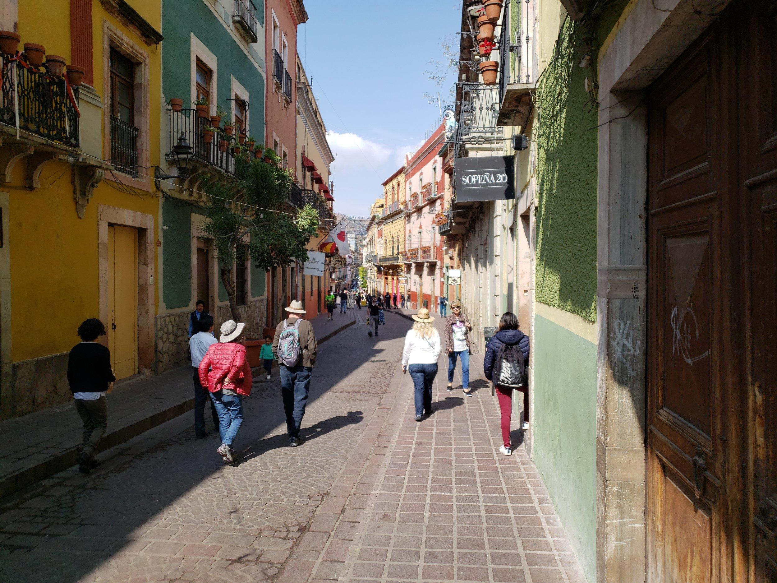 Street scene in Guanajuato