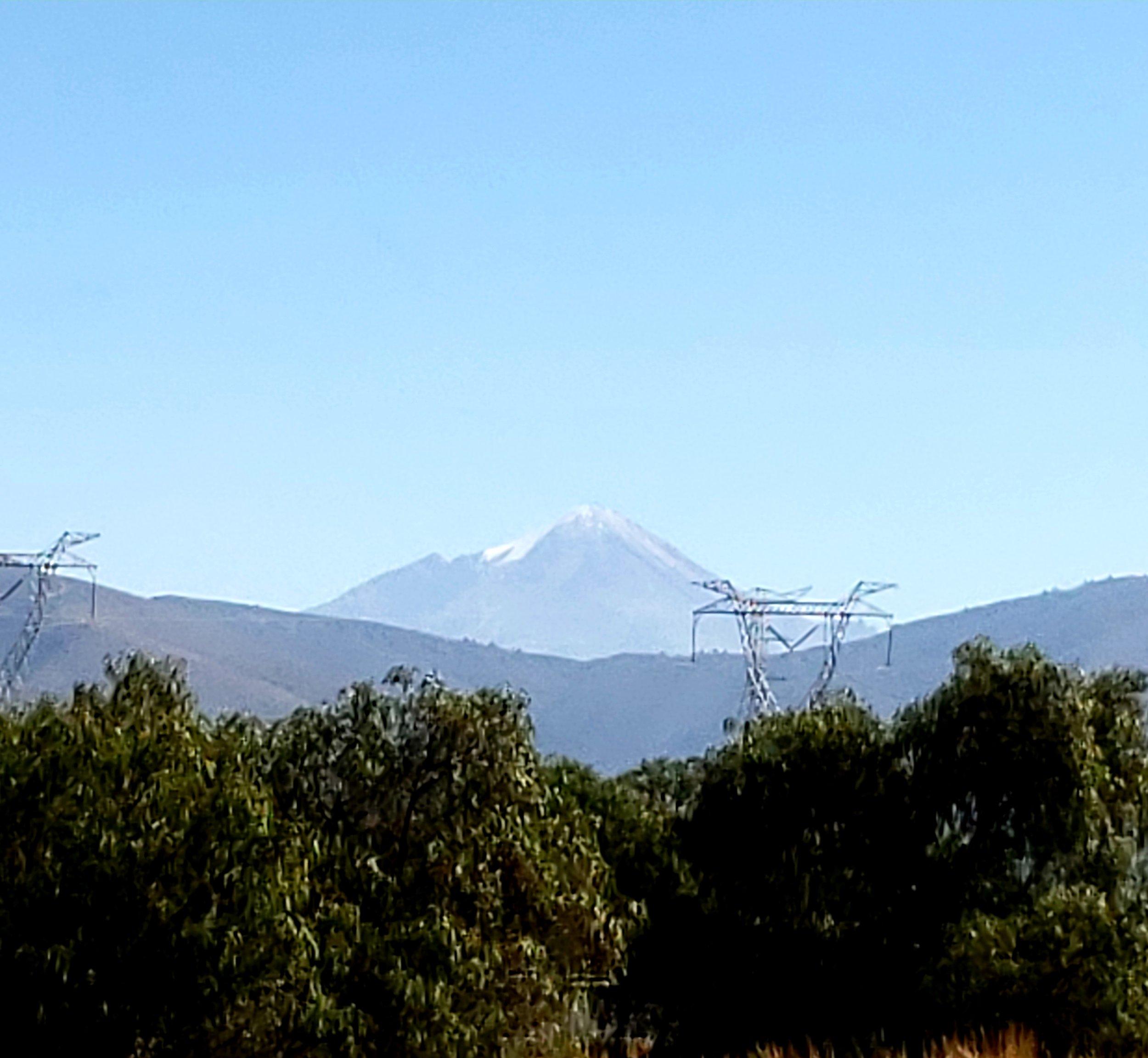 Pico de Orizaba, highest in Mexico, from near Puebla