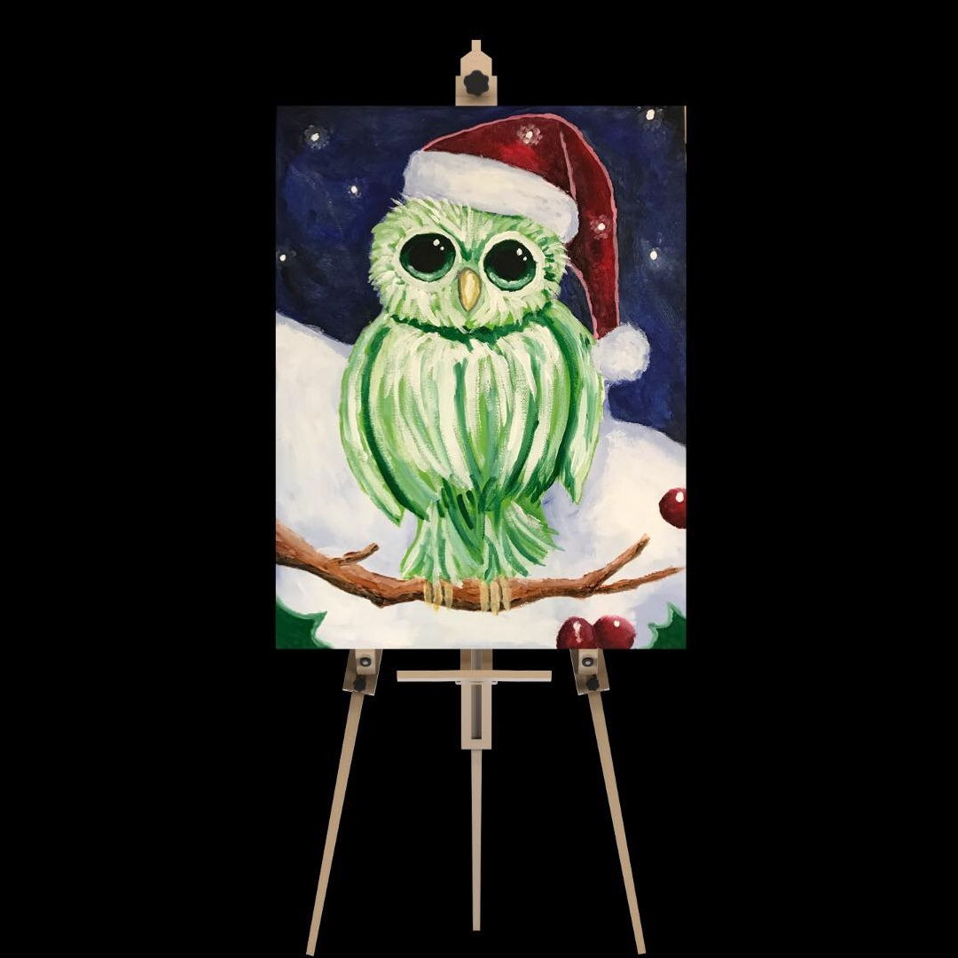 """Saturday December 22nd 5:00pm-7:30pm """"Christmas Owl"""""""