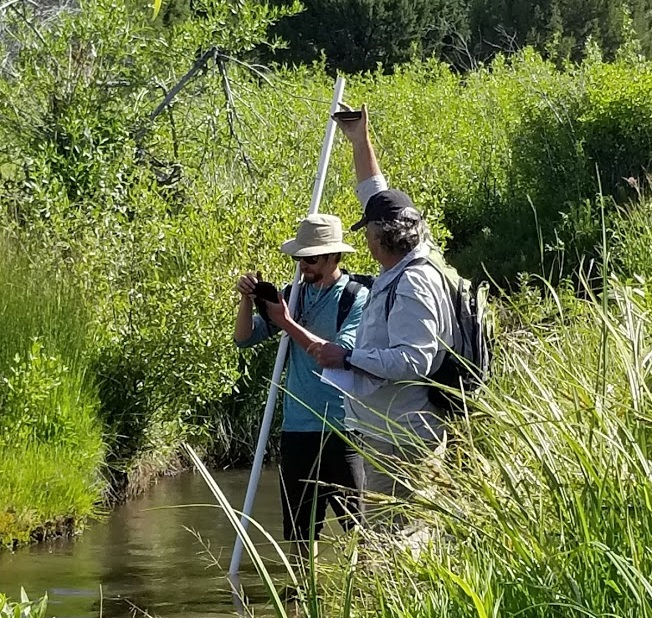 Community Scientists working on a Rapid Stream-Riparian Assessment