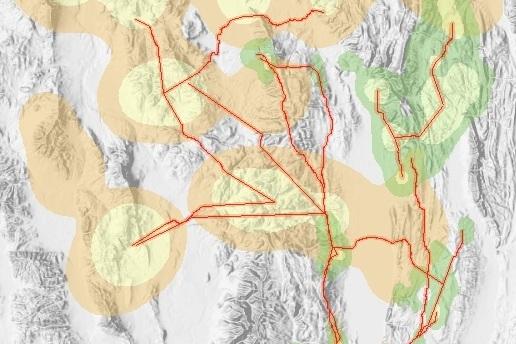Predicting elk and mule deer migration corridors in the Bear River Range -