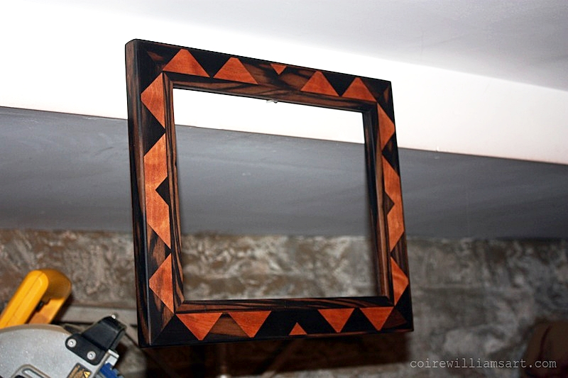 ebony and mahogany wood frame1_Whet Angle_15x13_coirewilliamsart_com.JPG