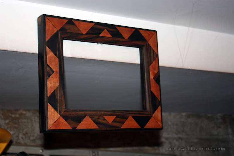 ebony and mahogany wood frame_Whet Angle_12x10_coirewilliamsart_com.JPG