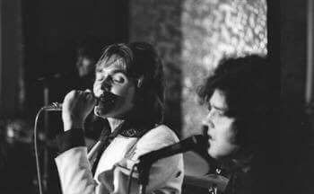 - Chris with Billy at Leicester's De Montfort Hall 1974