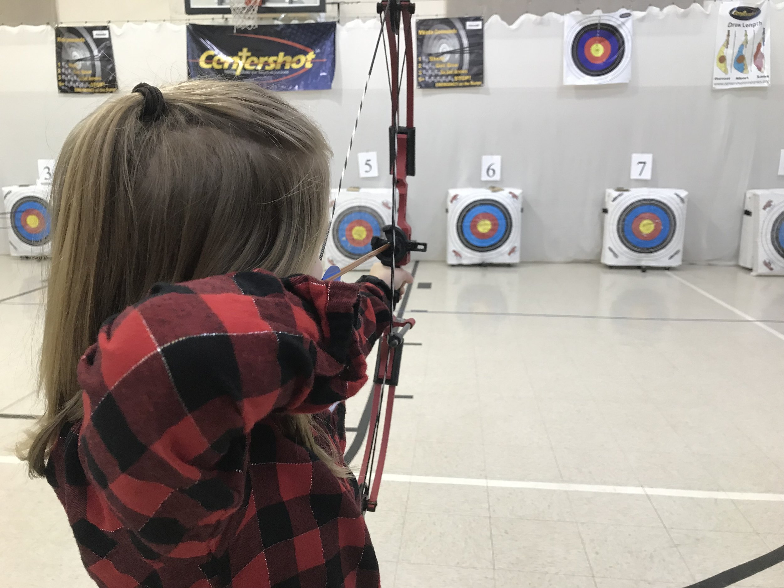 Kinsi Belles taking aim!