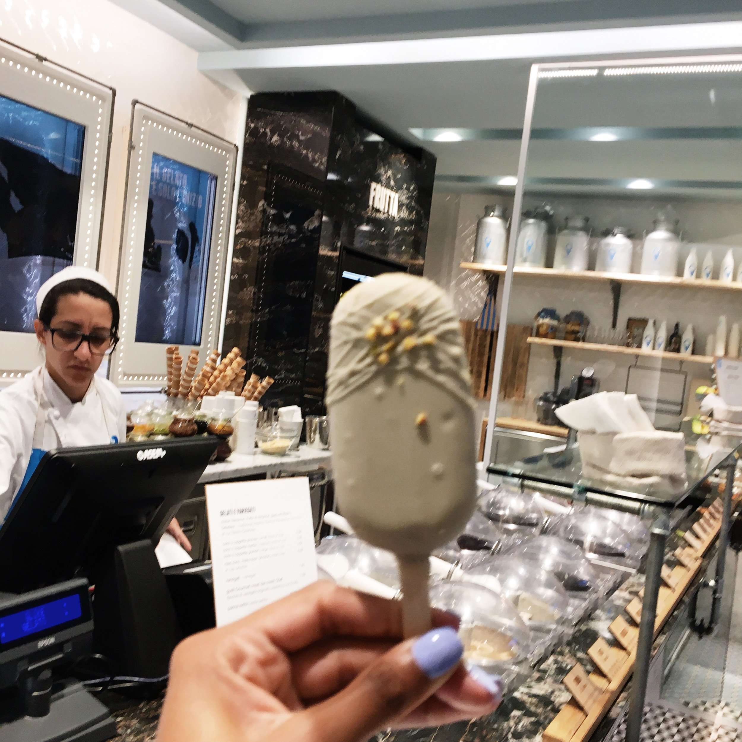 I think I had a Pistachio Gelato Bar from G Like Gelato almost every night or at least twice a day. So bad but so good! If you are headed to Rome I recommend you try one. They also come in different sizes and flavors!  Address: Piazza Cola di Rienzo, 29, 00193 Roma, Italy
