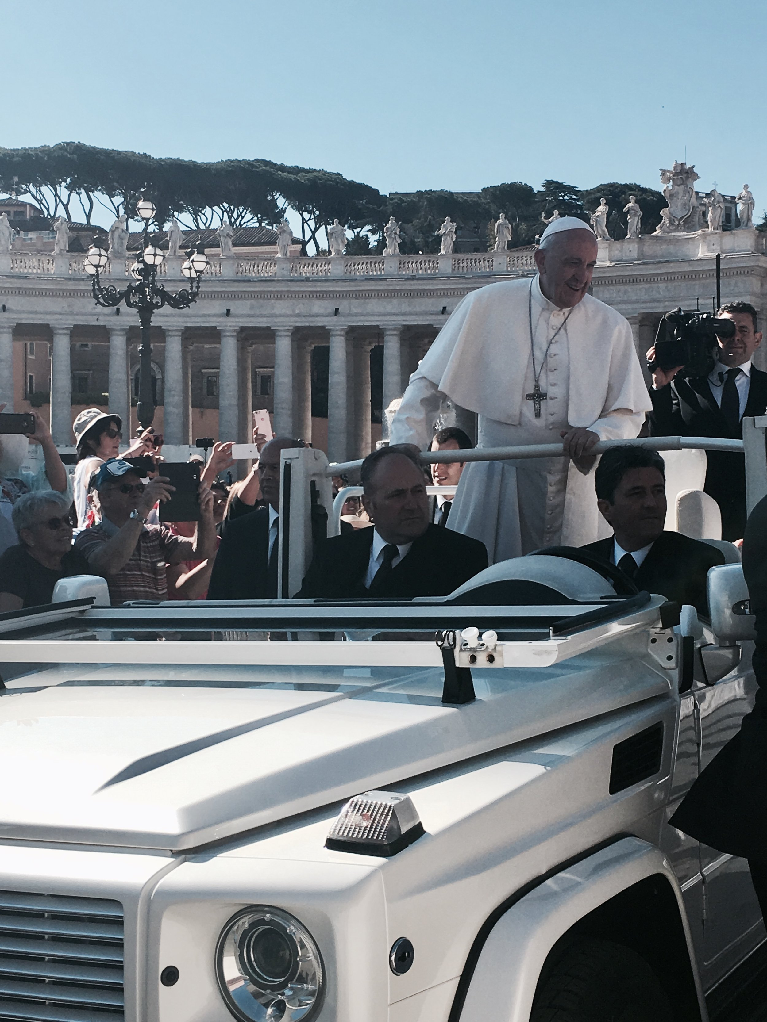 THE POPE!  Although I am not Catholic, this was such an incredible experience and is something I will never forget.