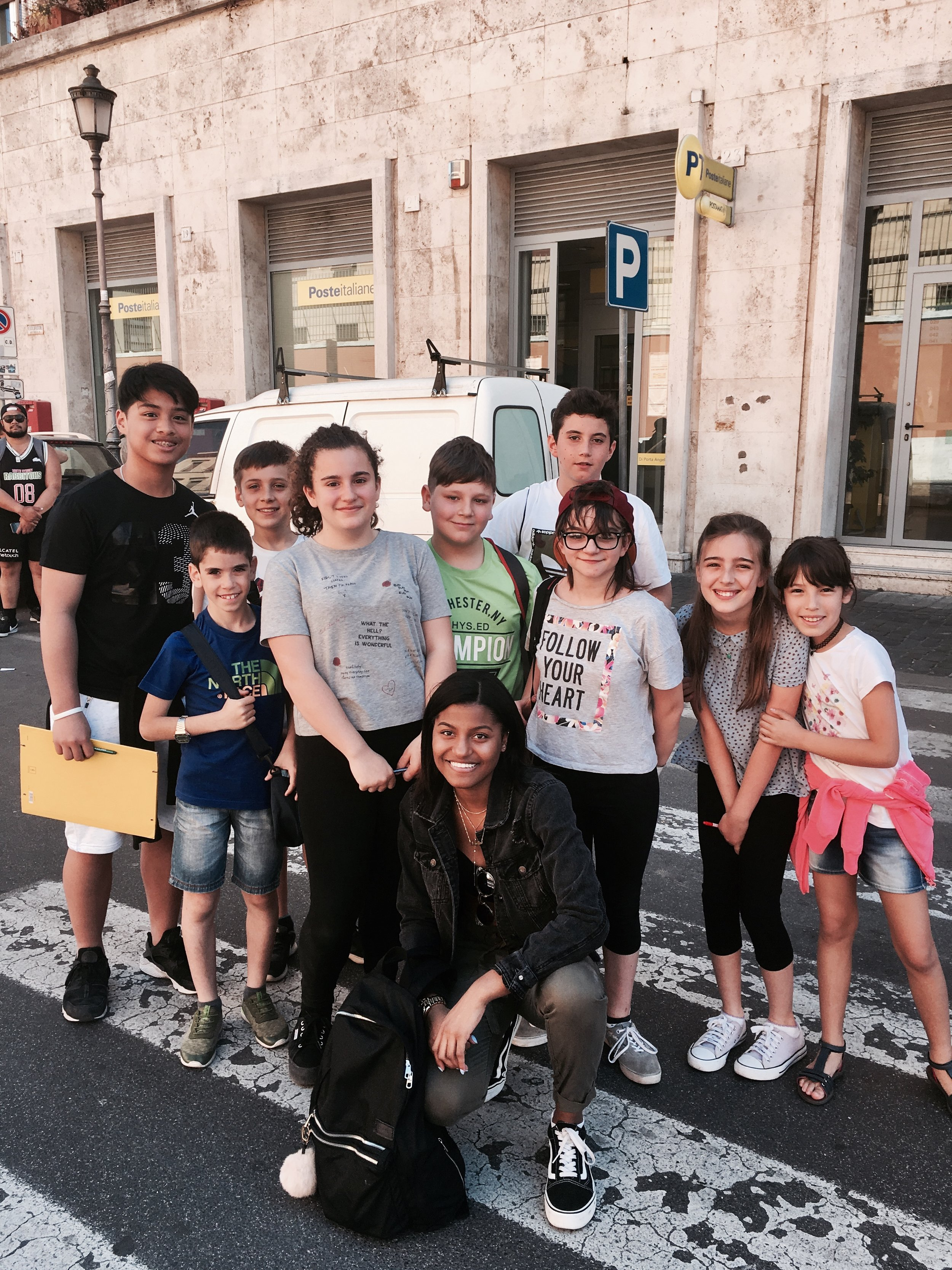 I had the chance to be interviewed by these young Italian Students who were practicing their english on Americans.