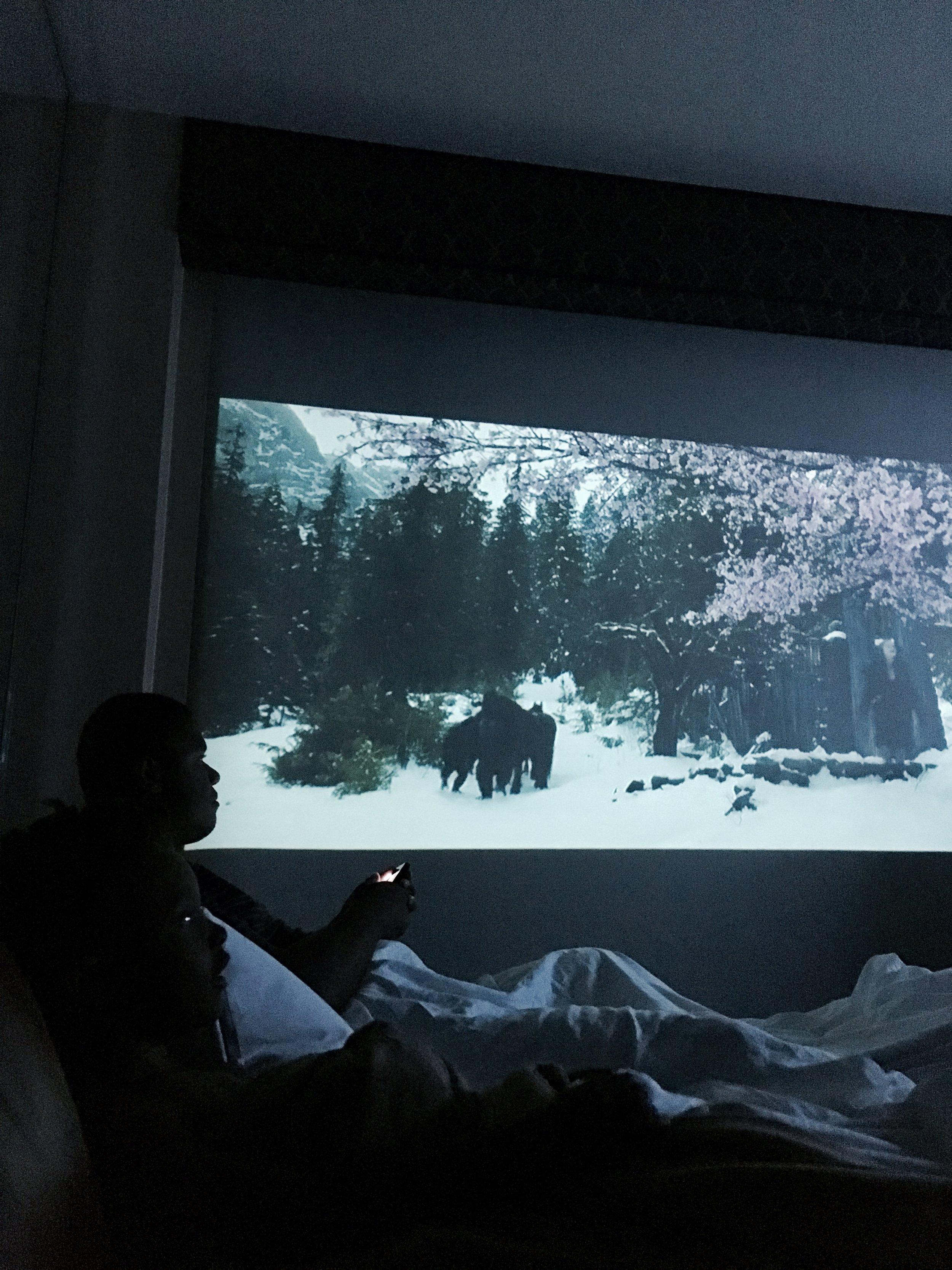 Had to take advantage of the projector in the condo!