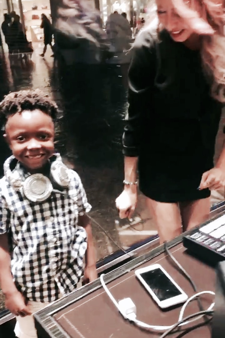 DJing may be his new occupation. At the Louis Vuitton party.