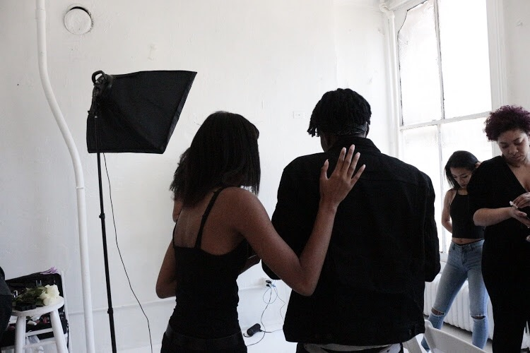 Skyler Pierce having a moment with photographer Omari @yungmxjre .