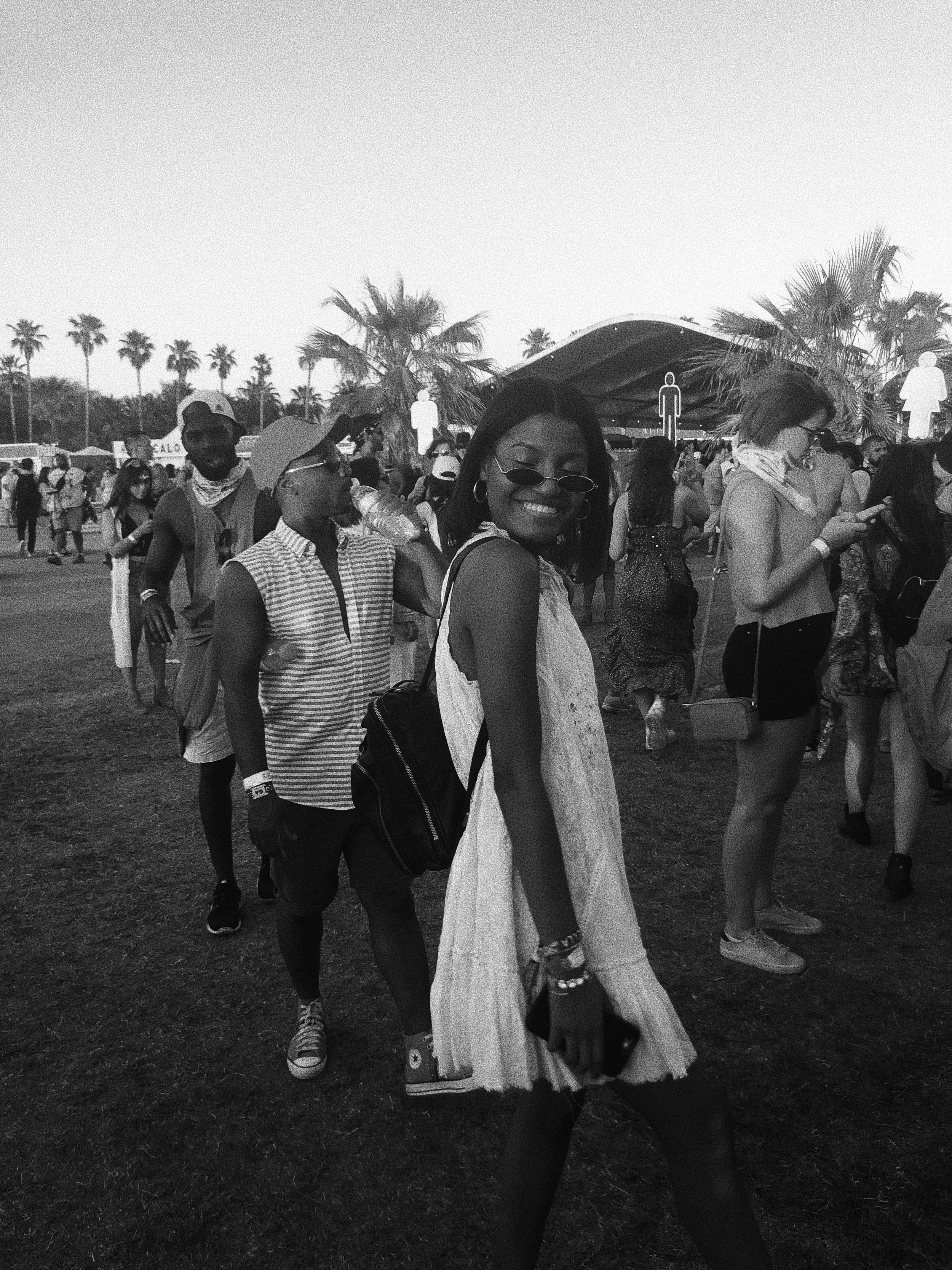 I am probably one of the goofiest girls you will ever meet but I'm happy . Thank you Coachella for another good year! See you soon! 🦋