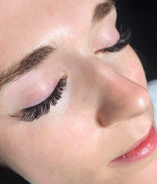 Classic Lashes  (client has a lot of natural lashes)