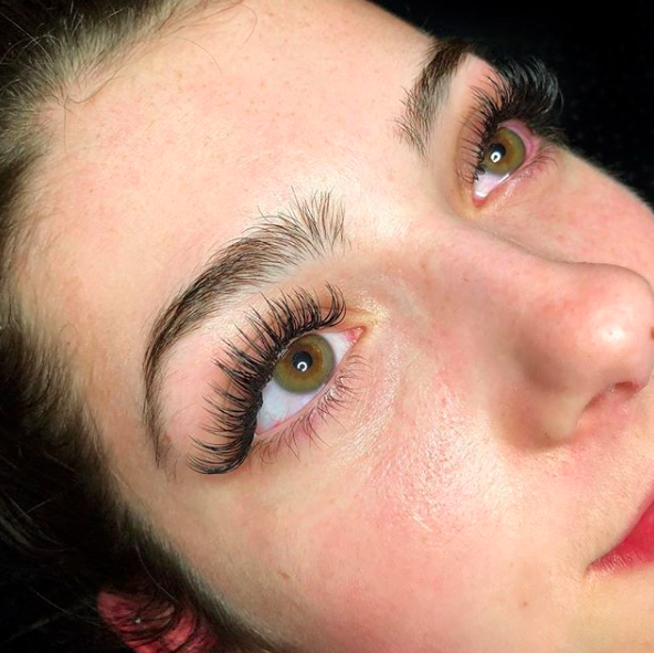 Classic Lashes ( please note client has a lot of natural lashes)