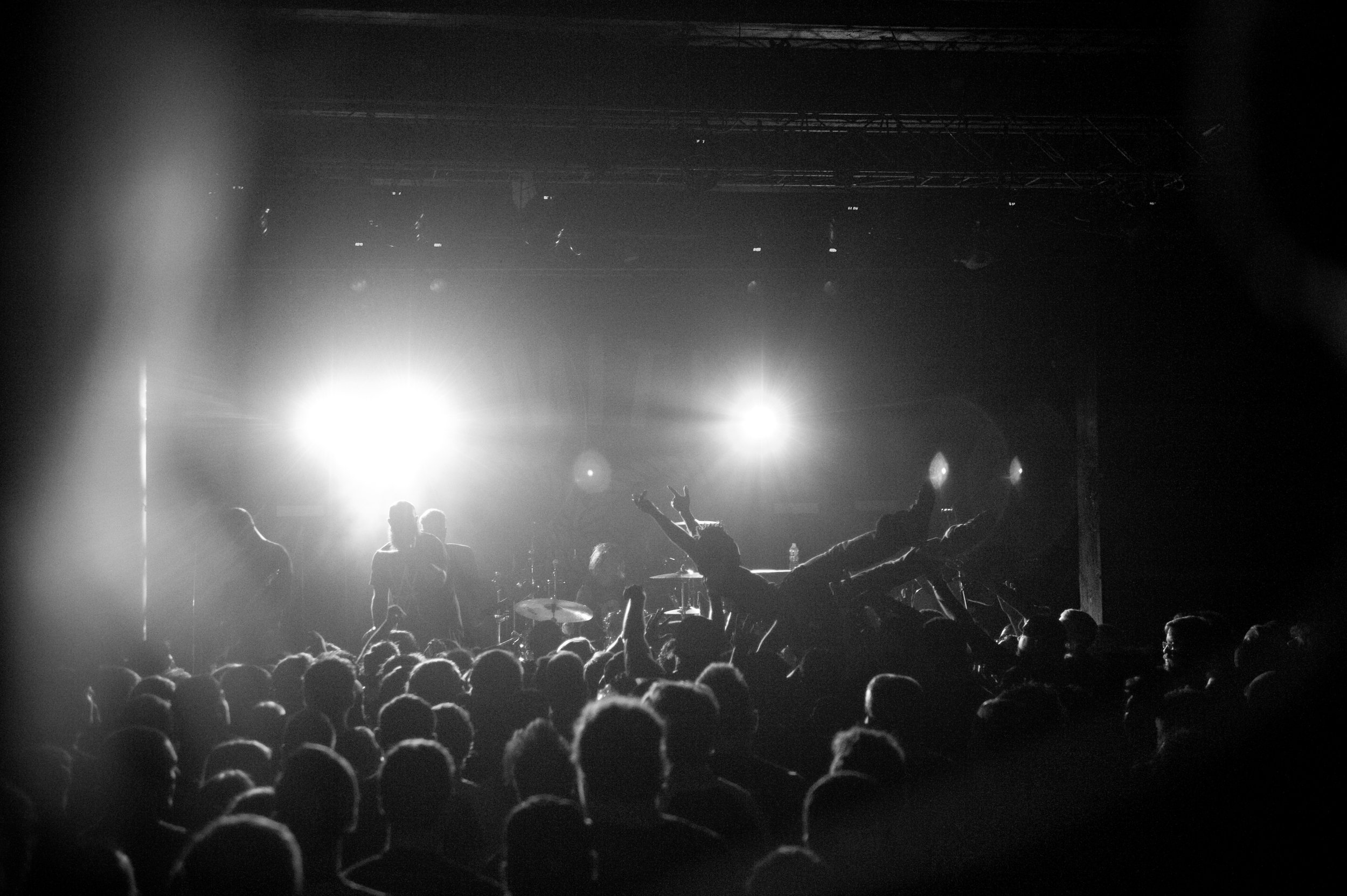 Crowd surfing during  Being As An Ocean 's set, at  The Cleveland Agora , earlier this month. Photo by  Michelle Waters .