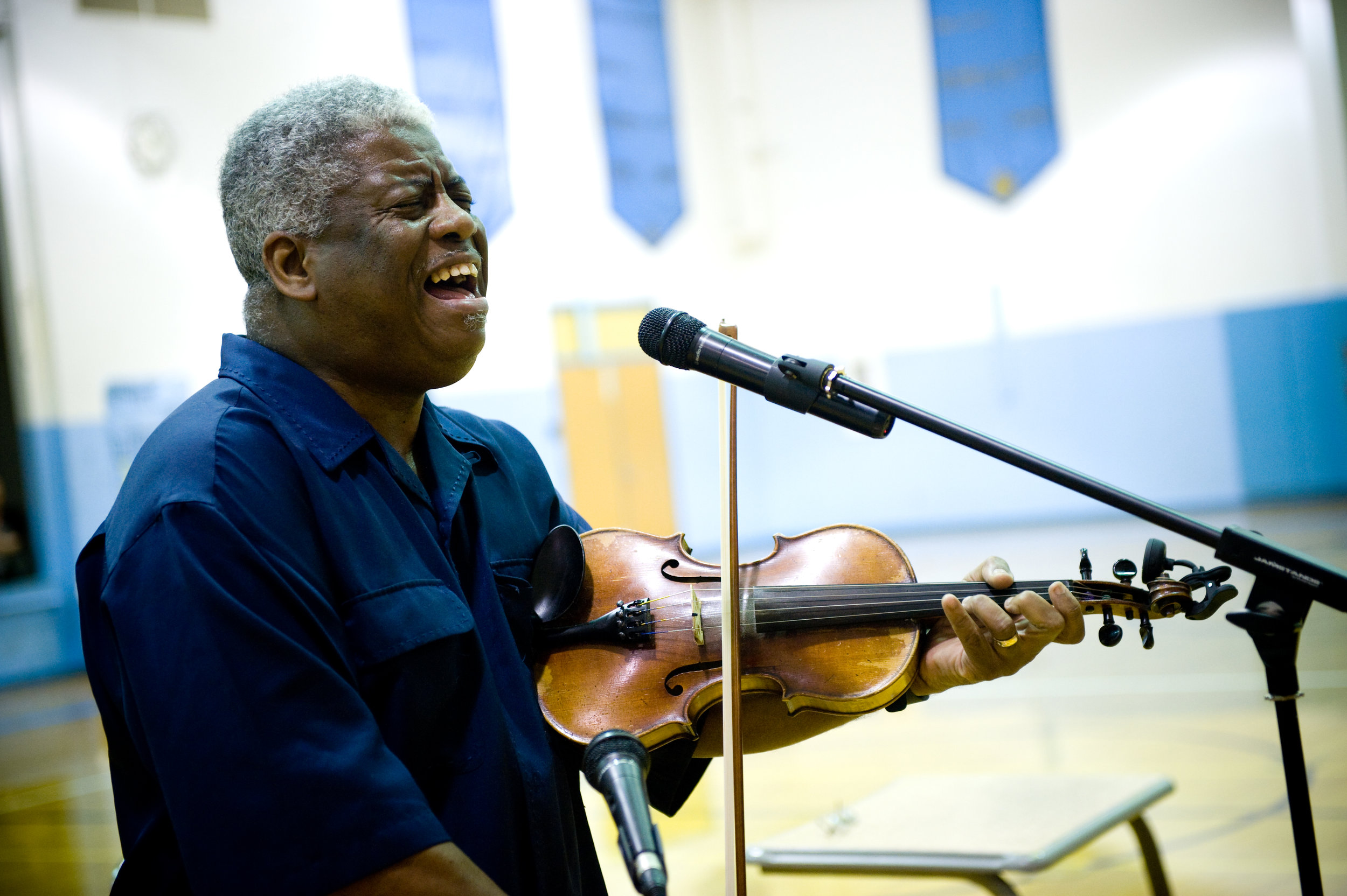 The Rev. Robert Jones is presenting the history of blues to local middle and high schools, this week. On Friday at 7pm, he will be giving a live performance, open to the public, at Marietta High School. Photo by  Michelle Waters