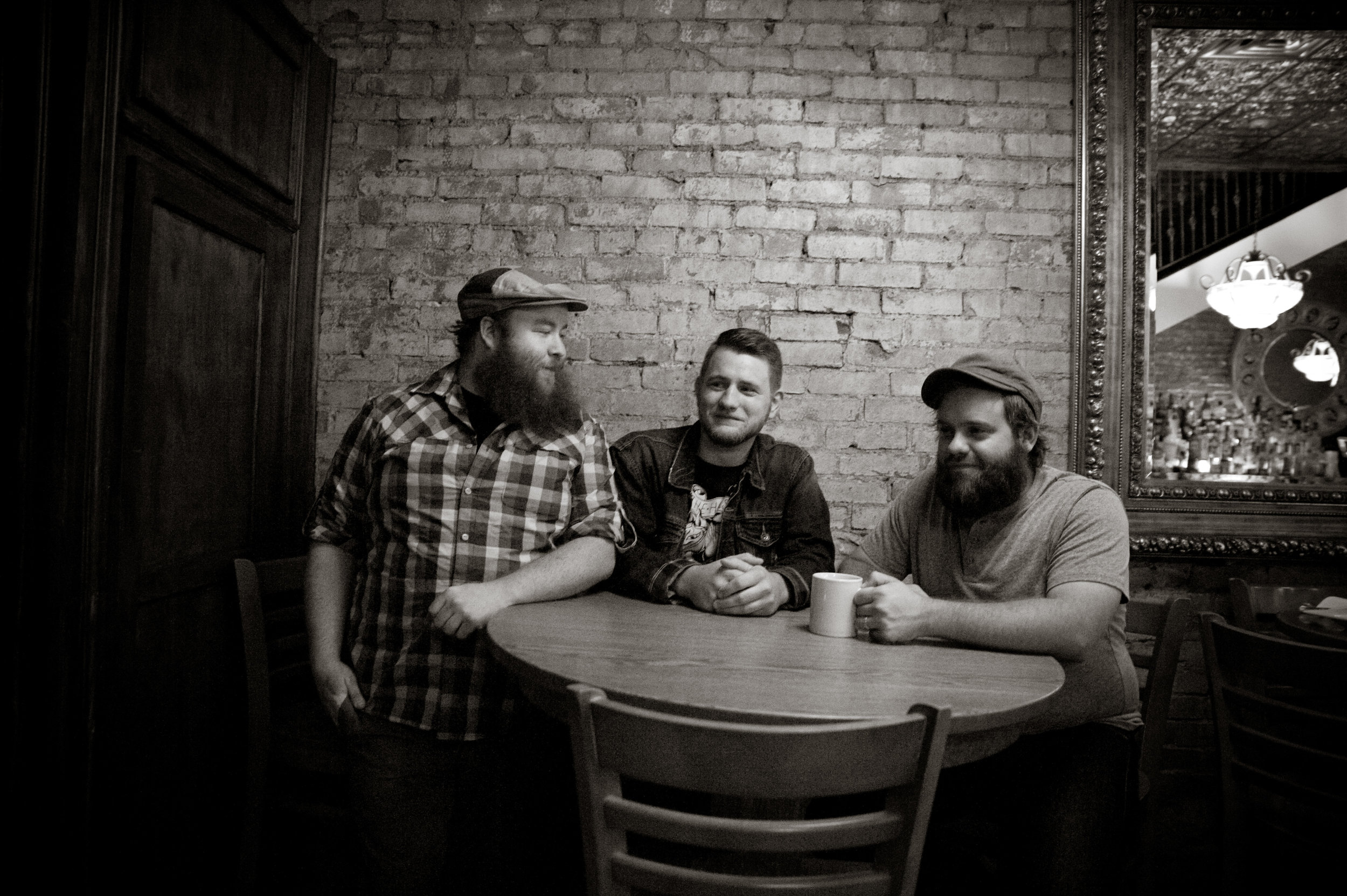 Jesse Forrest, Levi Westfall and Chuck McPeek sat down with Michelle this week at The Adelphia Music Hall. Photo by Michelle Waters.