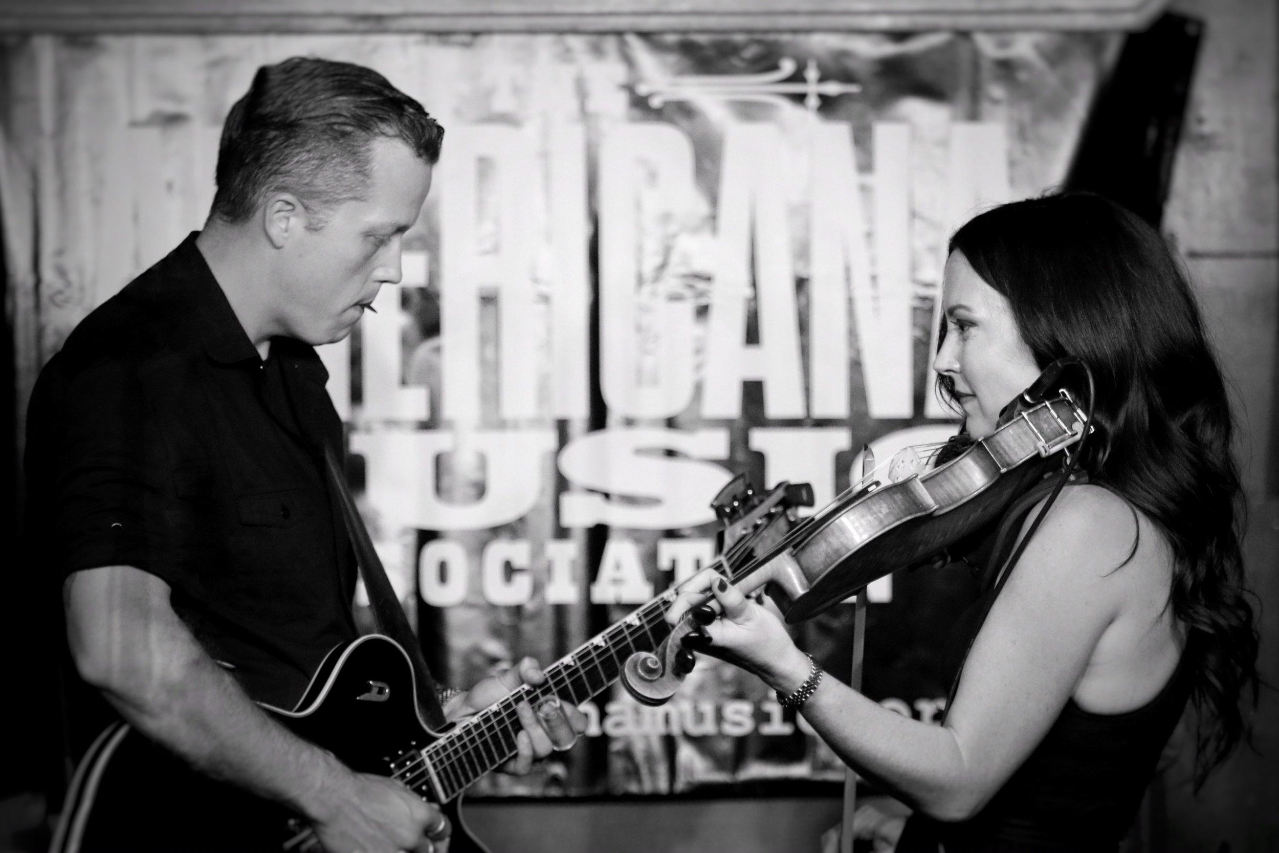 Jason Isbell and Amanda Shires, by Chad Cochran