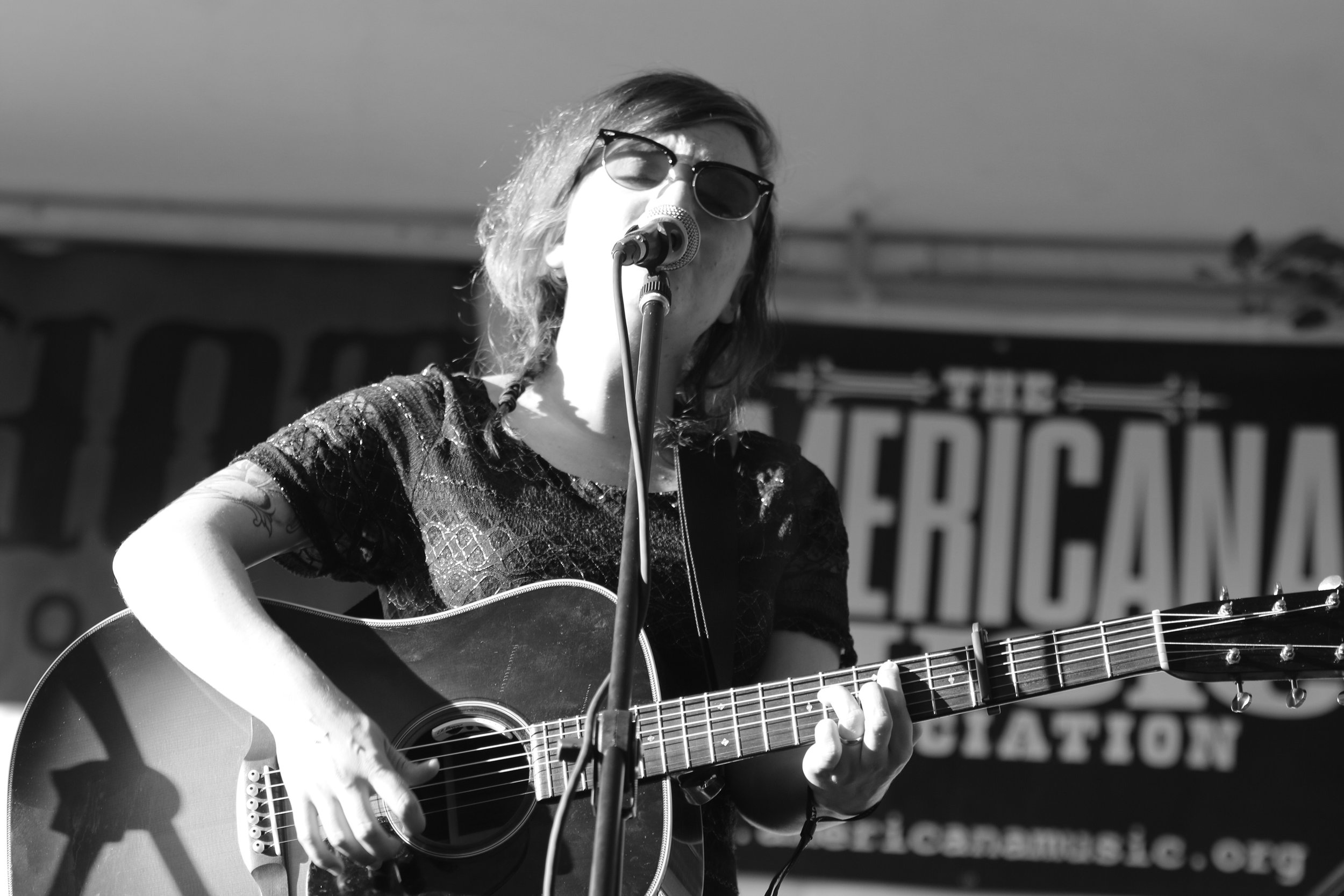 Ohio musician Lydia Loveless, performing at Americana Fest, by Chad Cochran