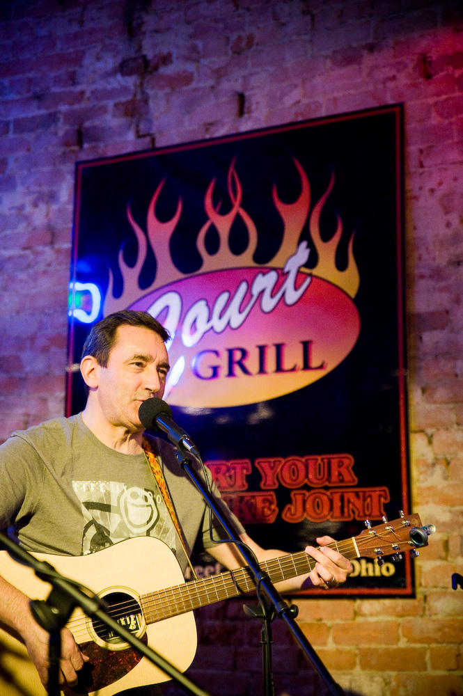 Brent Patterson  hosts the longest running open stage in the area at  Court Street Grill,  every Tuesday in Pomeroy, Ohio. Photo by  Michelle Waters .