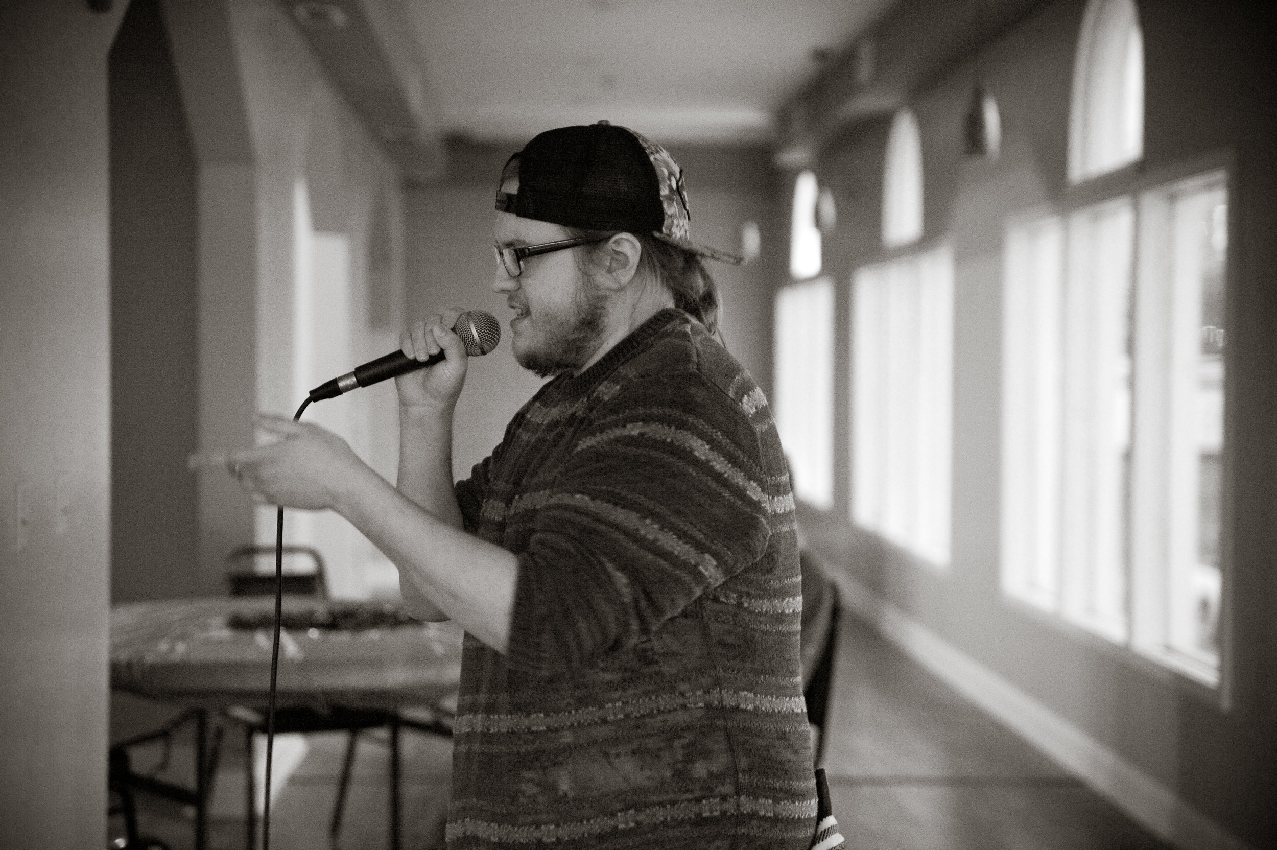 A local hip-hop show, right in the PKB? Yep. This Friday,  Kokomos  is hosting a hip-hop showcase, featuring local artists  Wilson  and  Oakley Black , as well as  Camelot , Lil Fan, and more. Show starts at 7PM. Photo of Wilson Raps by  Michelle Waters .