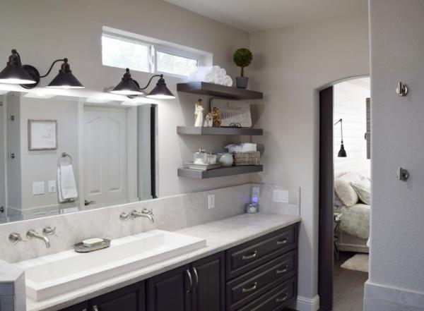 Top-Mounted-Double-Sink-Bathroom