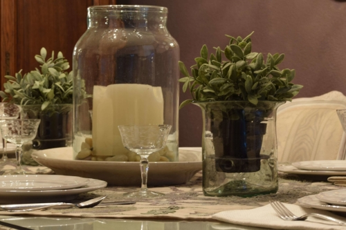 Cream-green-tablesetting