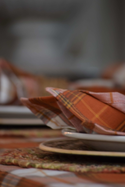 Mixing patterns like plaids and paisleys can add texture and interest to your table setting.