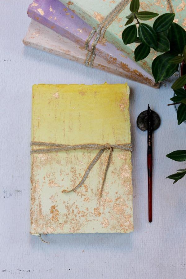 lemon pastel wedding guest book