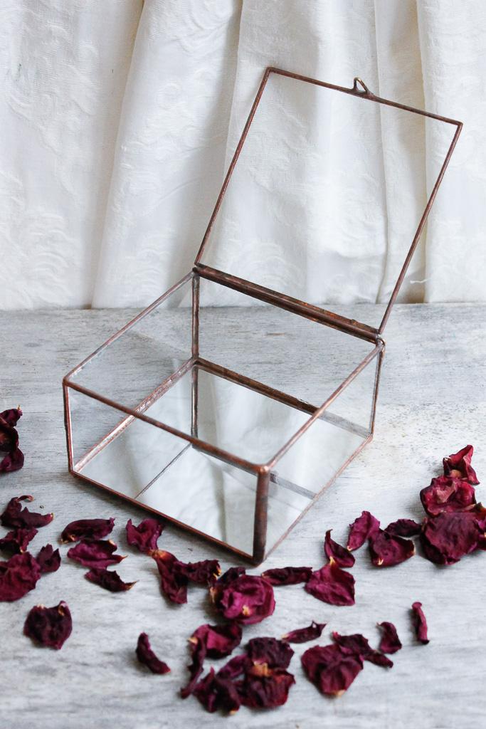glass and brass box